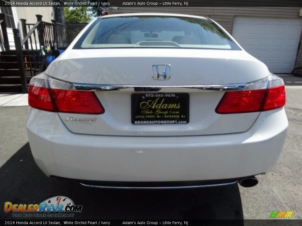 2014 Honda Accord LX Sedan White Orchid Pearl / Ivory Photo #5