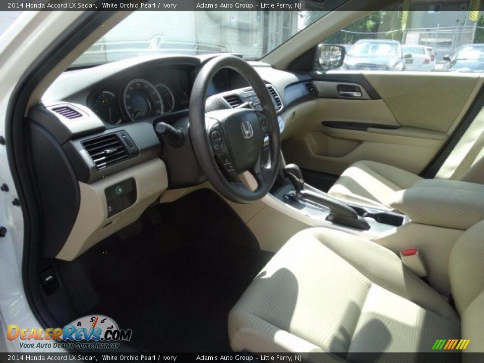 2014 Honda Accord LX Sedan White Orchid Pearl / Ivory Photo #8