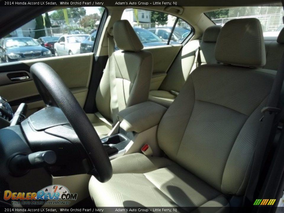 2014 Honda Accord LX Sedan White Orchid Pearl / Ivory Photo #10