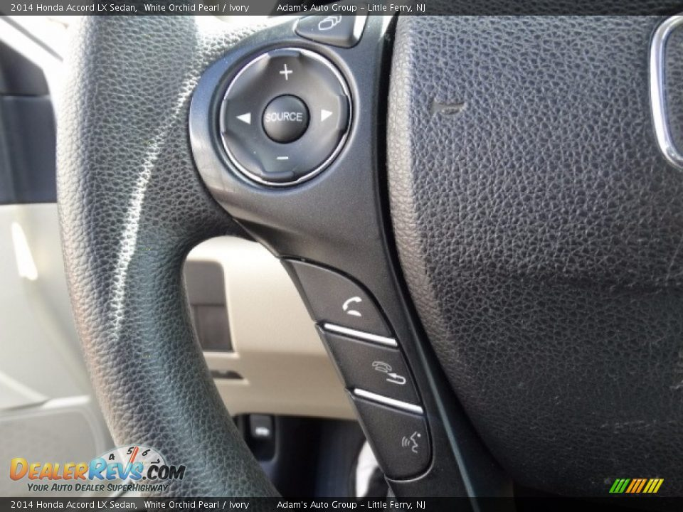 2014 Honda Accord LX Sedan White Orchid Pearl / Ivory Photo #13