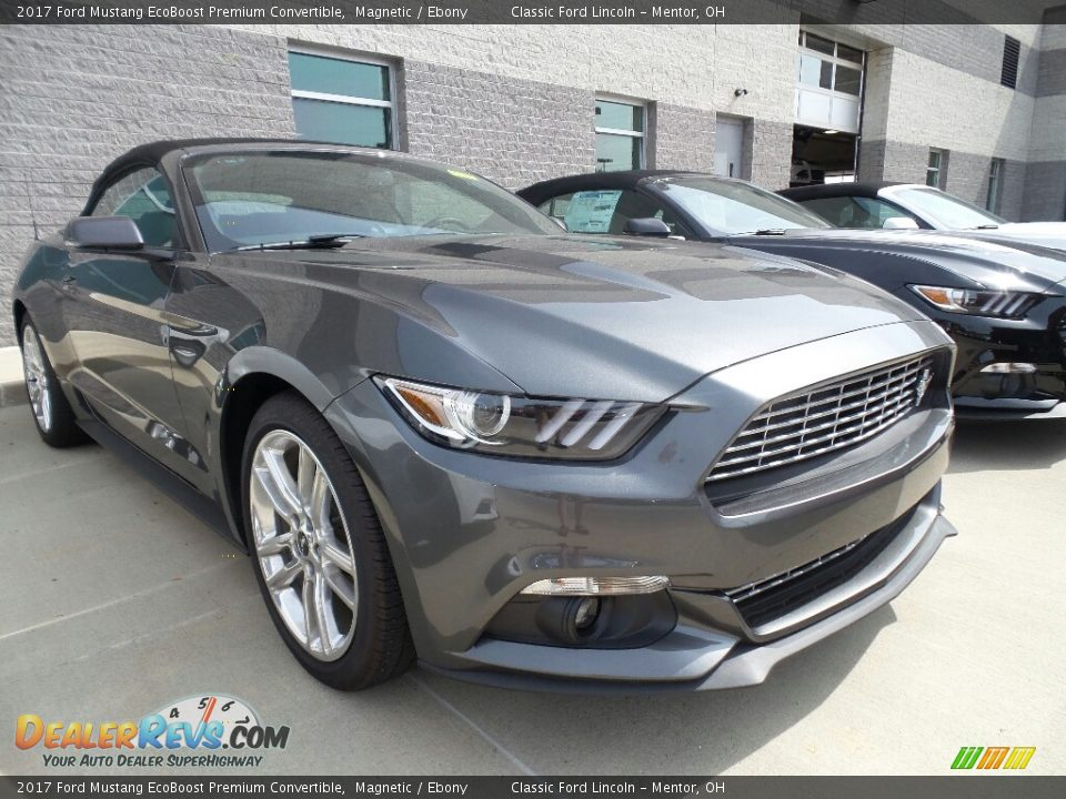2017 Ford Mustang EcoBoost Premium Convertible Magnetic / Ebony Photo #1