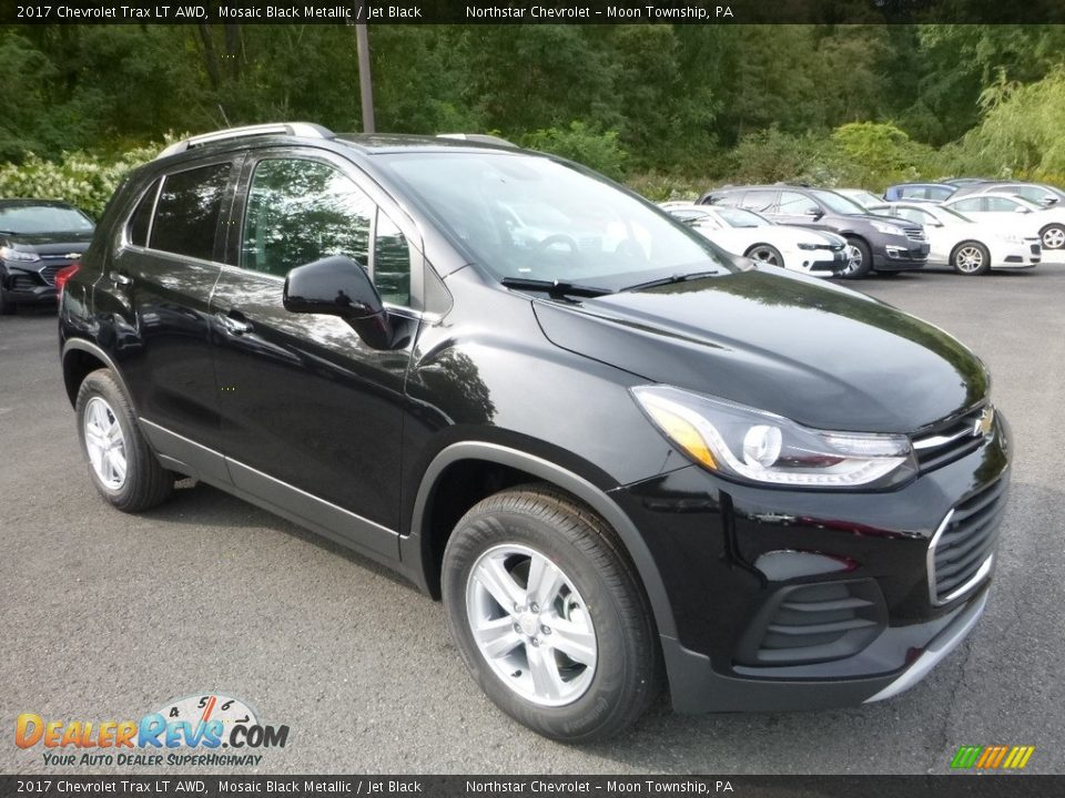 2017 Chevrolet Trax LT AWD Mosaic Black Metallic / Jet Black Photo #7
