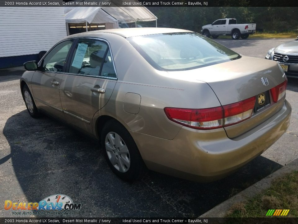 2003 Honda Accord LX Sedan Desert Mist Metallic / Ivory Photo #2