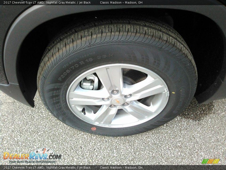 2017 Chevrolet Trax LT AWD Nightfall Gray Metallic / Jet Black Photo #2