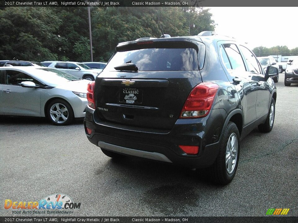2017 Chevrolet Trax LT AWD Nightfall Gray Metallic / Jet Black Photo #3