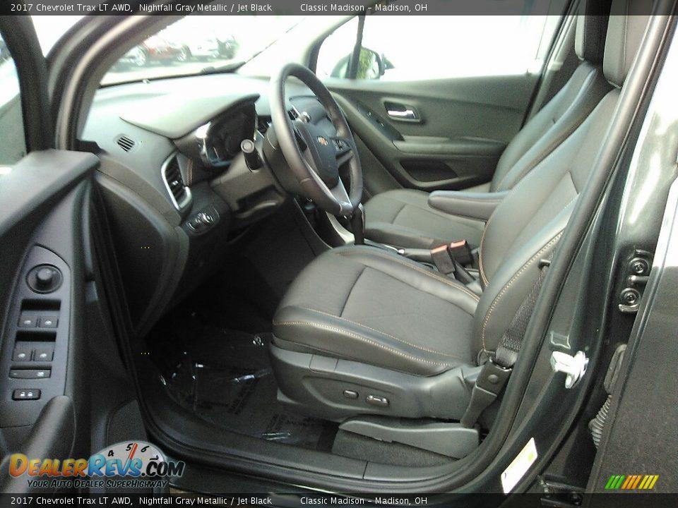 2017 Chevrolet Trax LT AWD Nightfall Gray Metallic / Jet Black Photo #5
