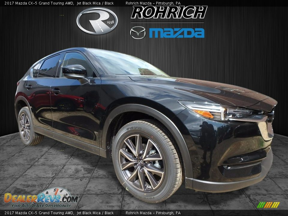 2017 Mazda CX-5 Grand Touring AWD Jet Black Mica / Black Photo #1
