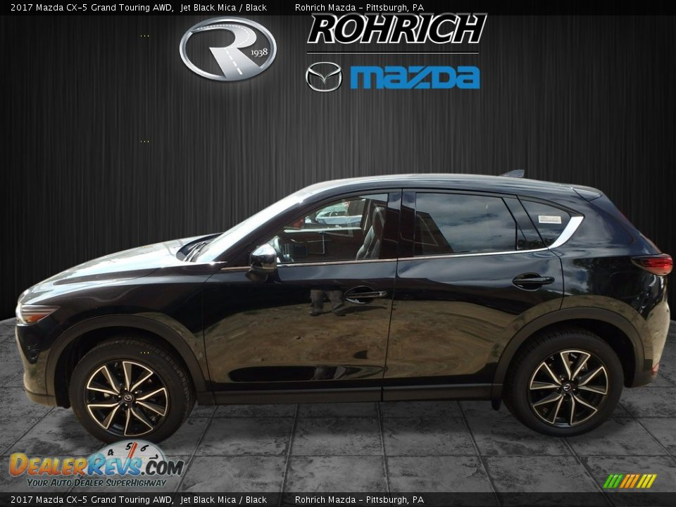 2017 Mazda CX-5 Grand Touring AWD Jet Black Mica / Black Photo #3