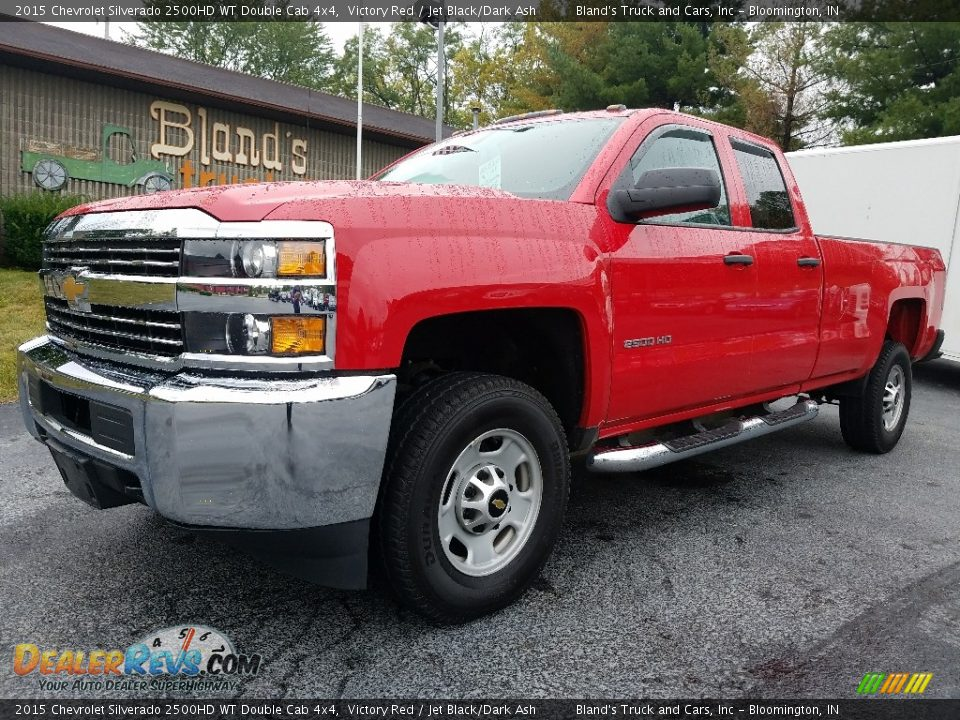 2015 Chevrolet Silverado 2500HD WT Double Cab 4x4 Victory Red / Jet Black/Dark Ash Photo #1