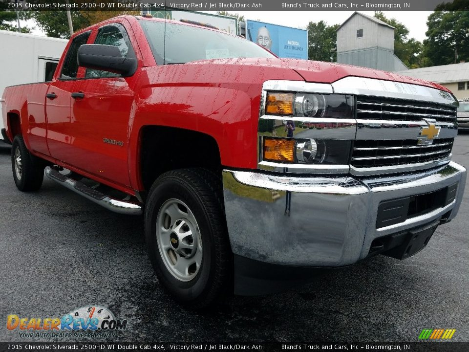 2015 Chevrolet Silverado 2500HD WT Double Cab 4x4 Victory Red / Jet Black/Dark Ash Photo #10