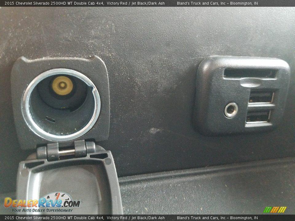 2015 Chevrolet Silverado 2500HD WT Double Cab 4x4 Victory Red / Jet Black/Dark Ash Photo #28