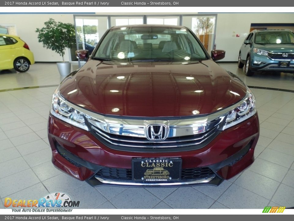 2017 Honda Accord LX Sedan Basque Red Pearl II / Ivory Photo #3