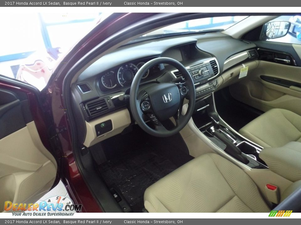 2017 Honda Accord LX Sedan Basque Red Pearl II / Ivory Photo #5