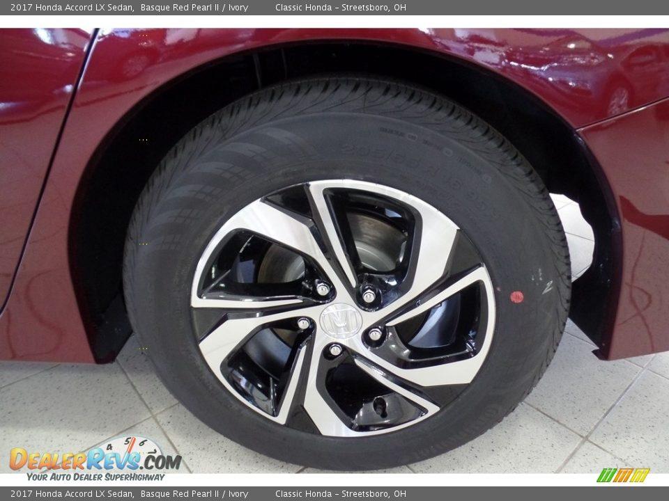 2017 Honda Accord LX Sedan Basque Red Pearl II / Ivory Photo #16