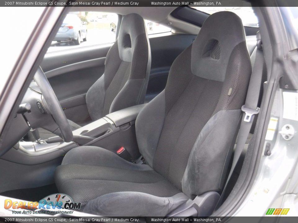 2007 Mitsubishi Eclipse GS Coupe Satin Meisai Gray Pearl / Medium Gray Photo #14