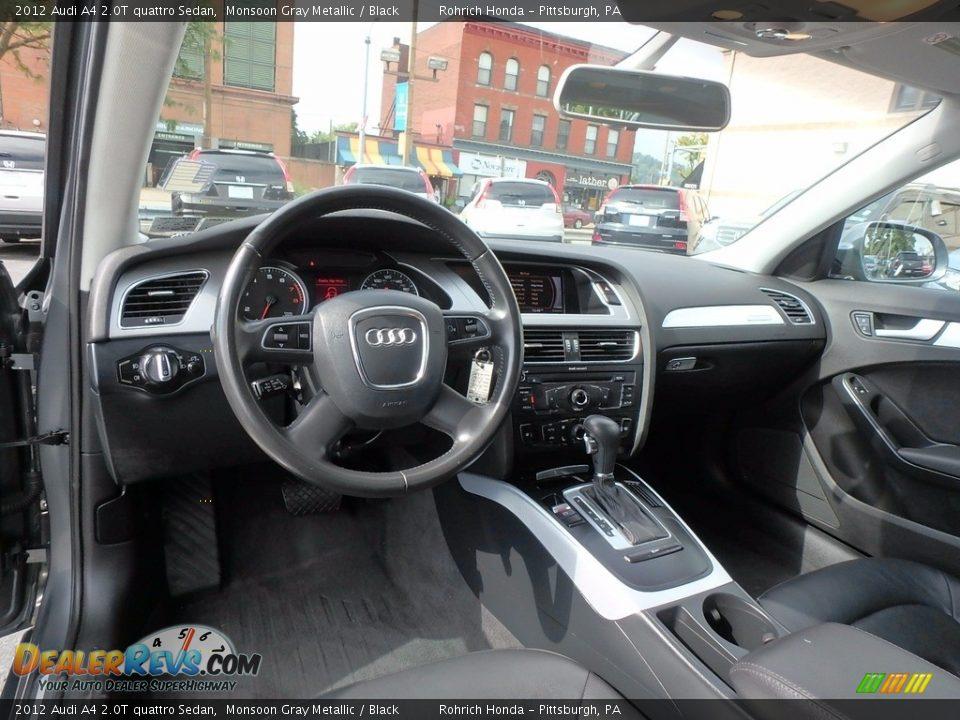 2012 Audi A4 2.0T quattro Sedan Monsoon Gray Metallic / Black Photo #8