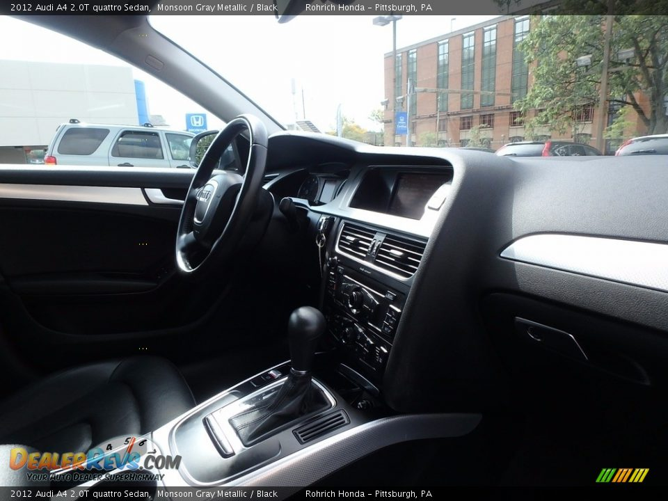 2012 Audi A4 2.0T quattro Sedan Monsoon Gray Metallic / Black Photo #13