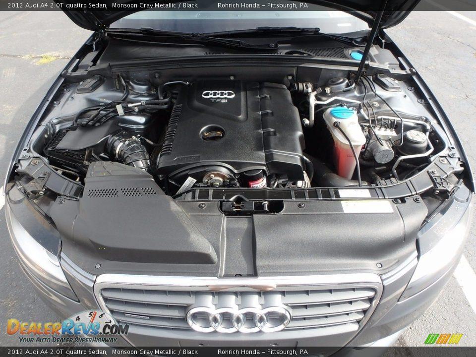 2012 Audi A4 2.0T quattro Sedan Monsoon Gray Metallic / Black Photo #18