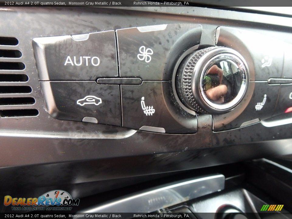2012 Audi A4 2.0T quattro Sedan Monsoon Gray Metallic / Black Photo #23
