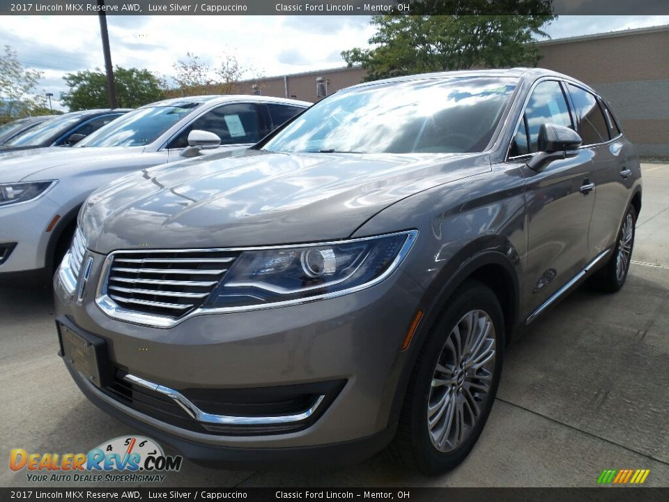 2017 Lincoln MKX Reserve AWD Luxe Silver / Cappuccino Photo #1