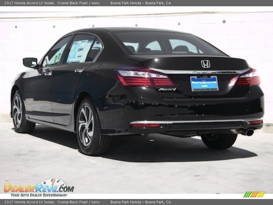 2017 Honda Accord LX Sedan Crystal Black Pearl / Ivory Photo #2