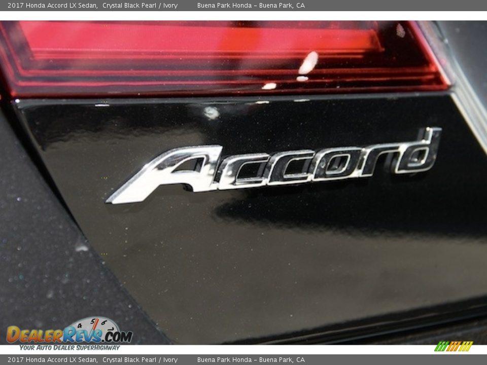 2017 Honda Accord LX Sedan Crystal Black Pearl / Ivory Photo #3