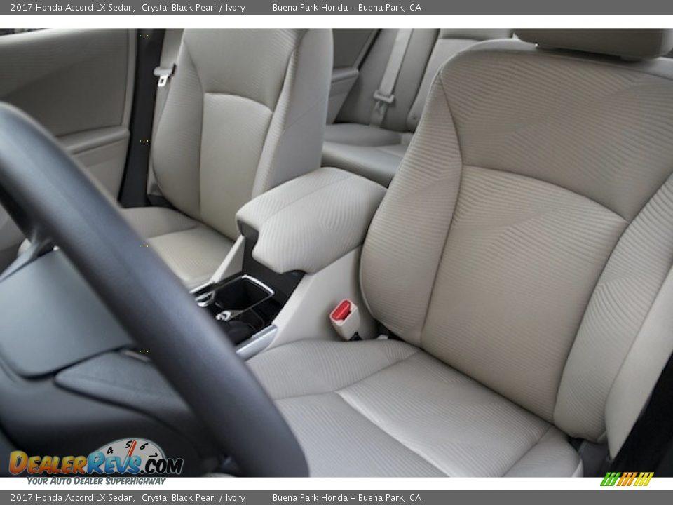 2017 Honda Accord LX Sedan Crystal Black Pearl / Ivory Photo #10