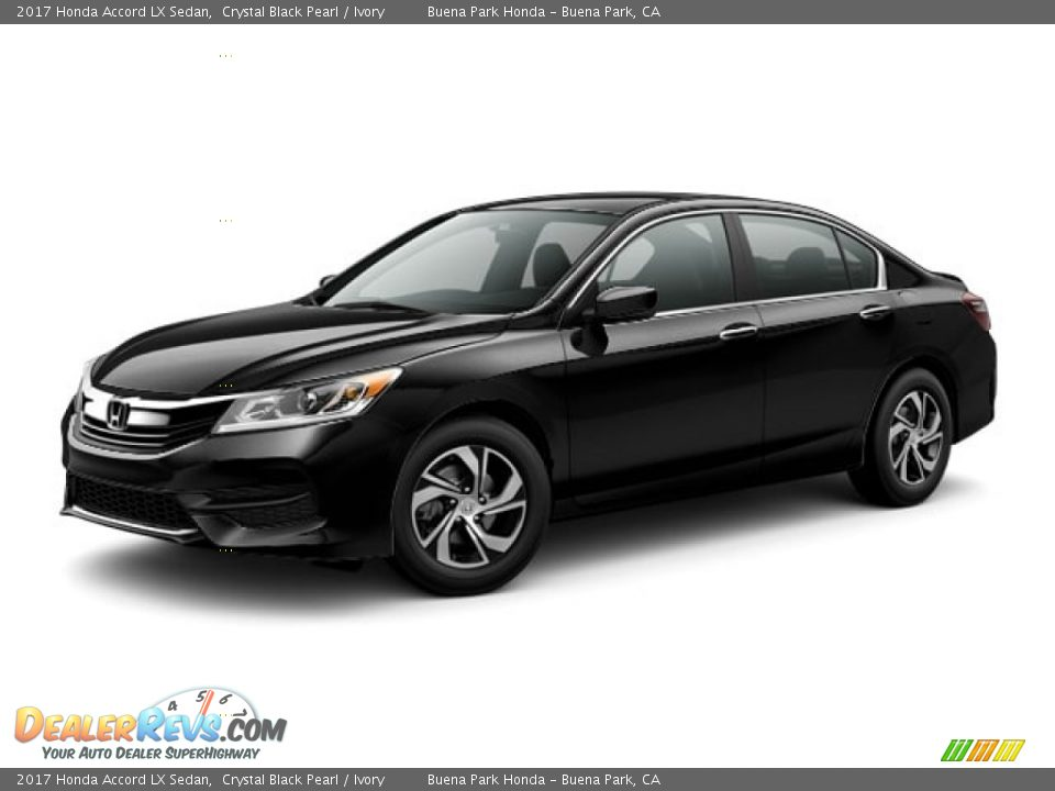 2017 Honda Accord LX Sedan Crystal Black Pearl / Ivory Photo #17