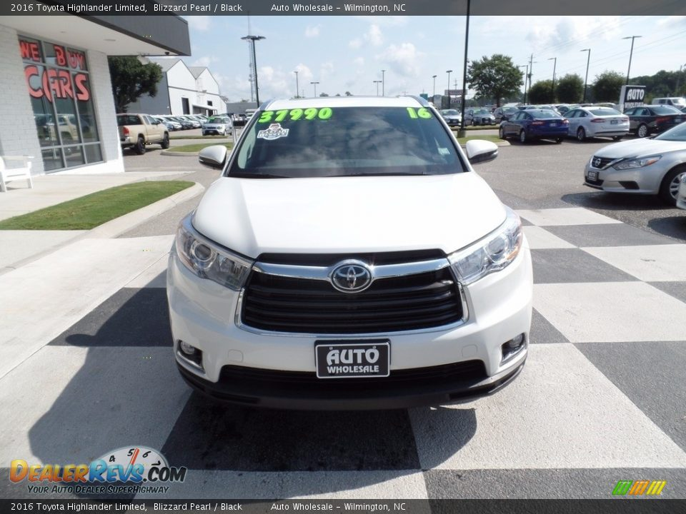 2016 Toyota Highlander Limited Blizzard Pearl / Black Photo #2