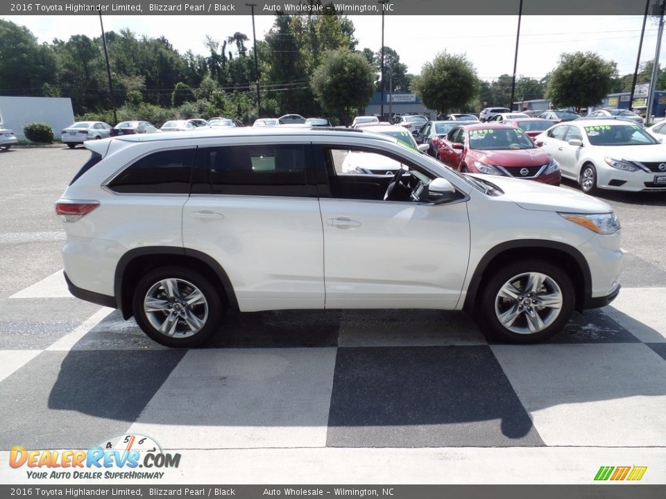 2016 Toyota Highlander Limited Blizzard Pearl / Black Photo #3