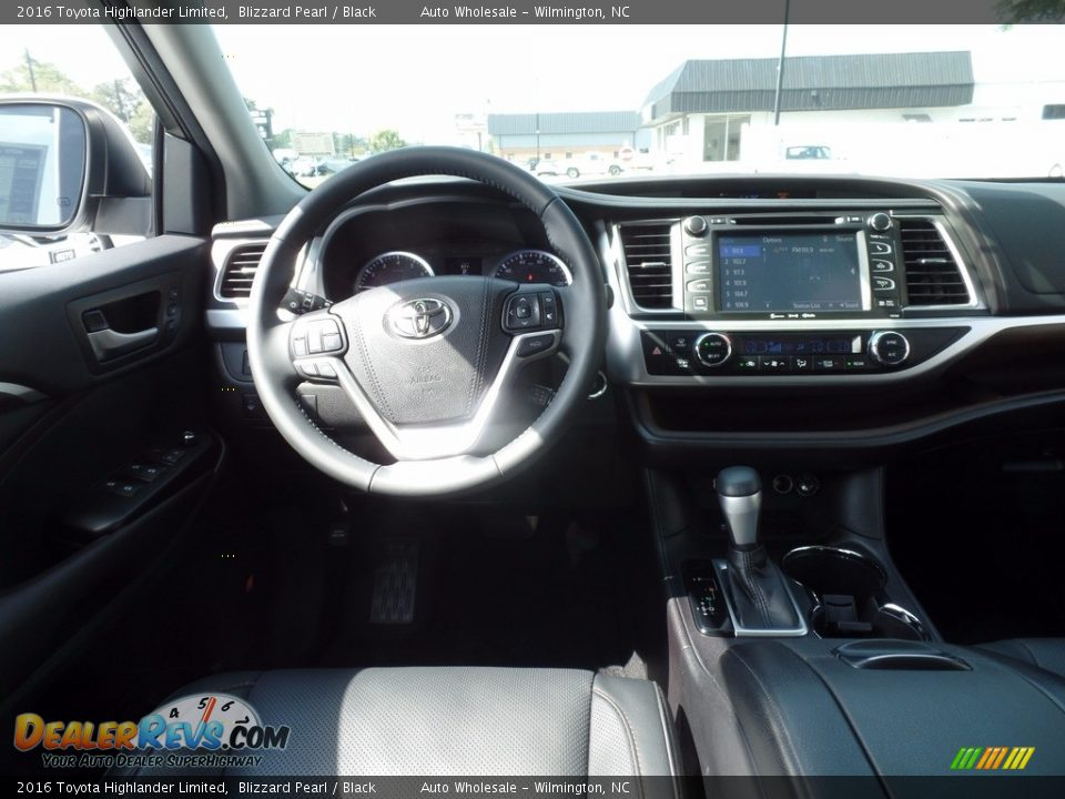 2016 Toyota Highlander Limited Blizzard Pearl / Black Photo #15