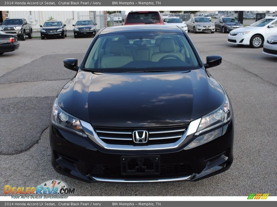 2014 Honda Accord LX Sedan Crystal Black Pearl / Ivory Photo #8