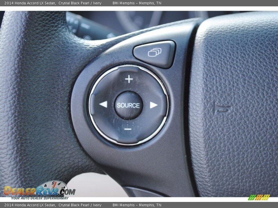 2014 Honda Accord LX Sedan Crystal Black Pearl / Ivory Photo #14