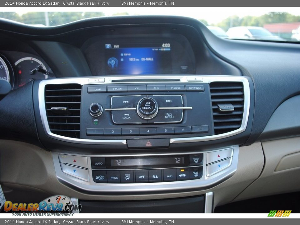 2014 Honda Accord LX Sedan Crystal Black Pearl / Ivory Photo #18