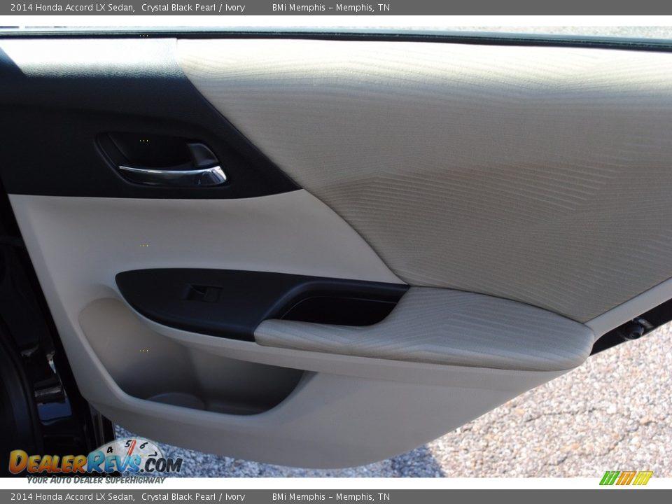 2014 Honda Accord LX Sedan Crystal Black Pearl / Ivory Photo #24
