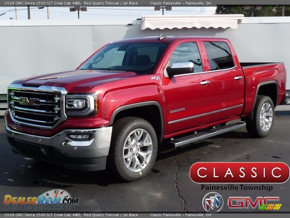 2018 GMC Sierra 1500 SLT Crew Cab 4WD Red Quartz Tintcoat / Jet Black Photo #1