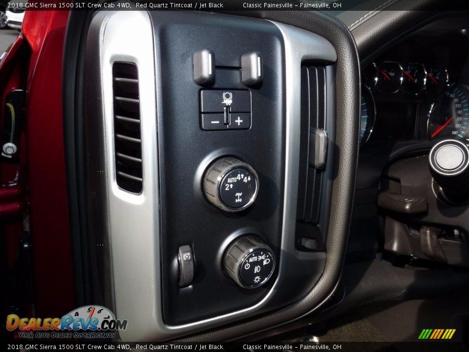 2018 GMC Sierra 1500 SLT Crew Cab 4WD Red Quartz Tintcoat / Jet Black Photo #6