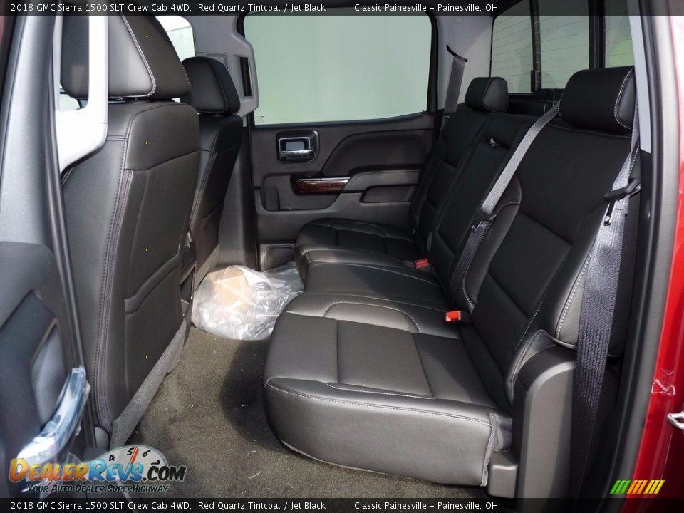 2018 GMC Sierra 1500 SLT Crew Cab 4WD Red Quartz Tintcoat / Jet Black Photo #8