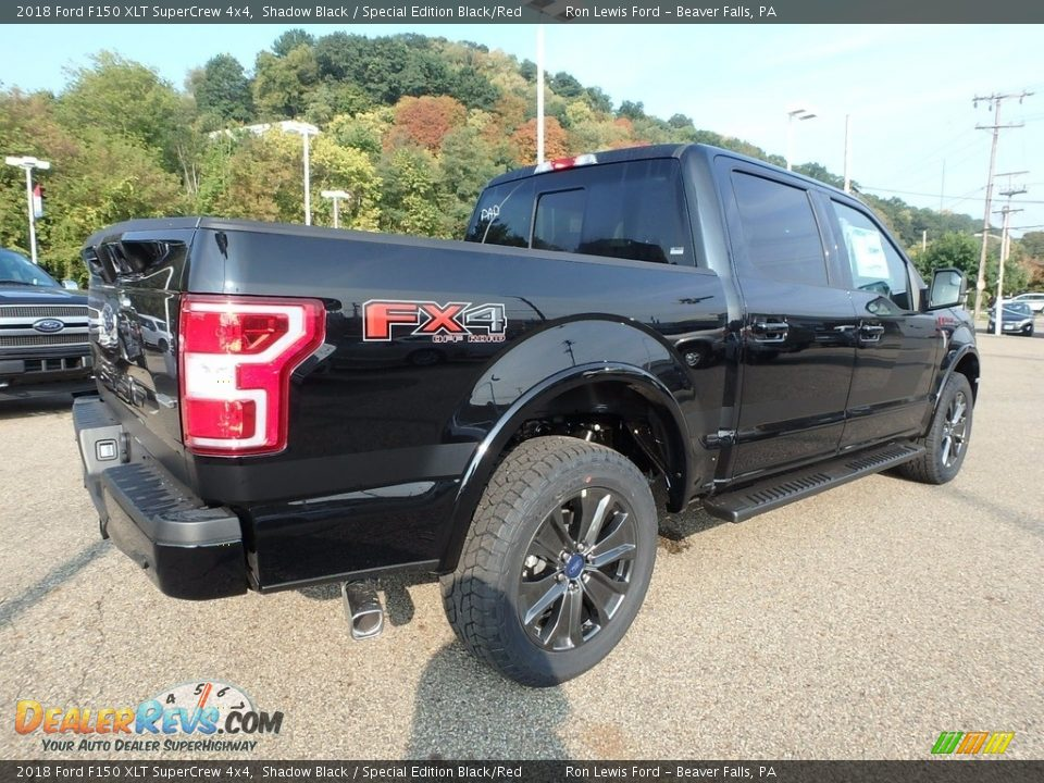 2018 Ford F150 XLT SuperCrew 4x4 Shadow Black / Special Edition Black/Red Photo #2