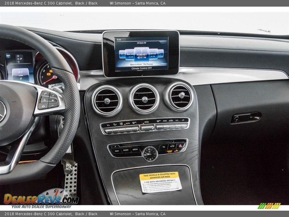 2018 Mercedes-Benz C 300 Cabriolet Black / Black Photo #5
