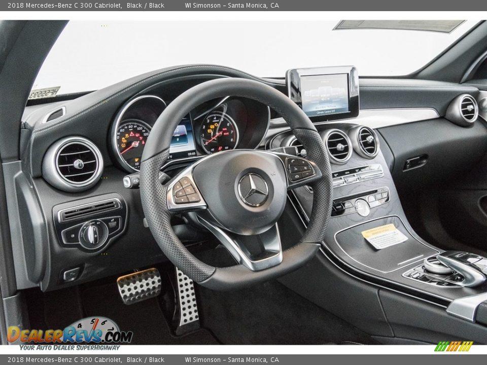 2018 Mercedes-Benz C 300 Cabriolet Black / Black Photo #6
