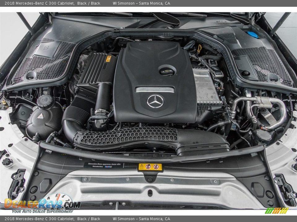 2018 Mercedes-Benz C 300 Cabriolet Black / Black Photo #8