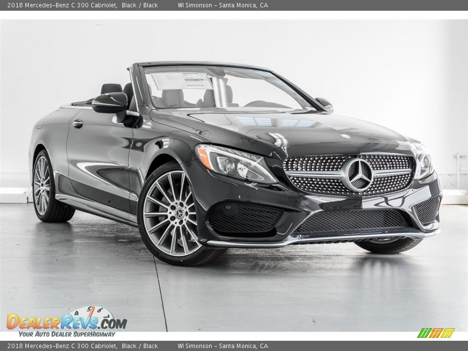 2018 Mercedes-Benz C 300 Cabriolet Black / Black Photo #12