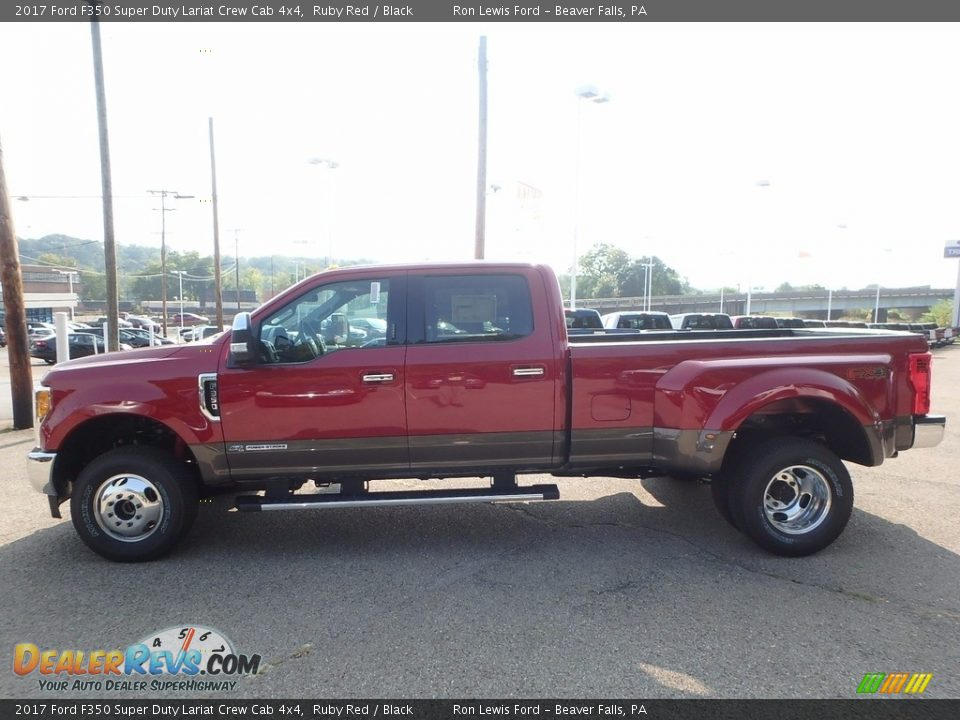 2017 Ford F350 Super Duty Lariat Crew Cab 4x4 Ruby Red / Black Photo #5