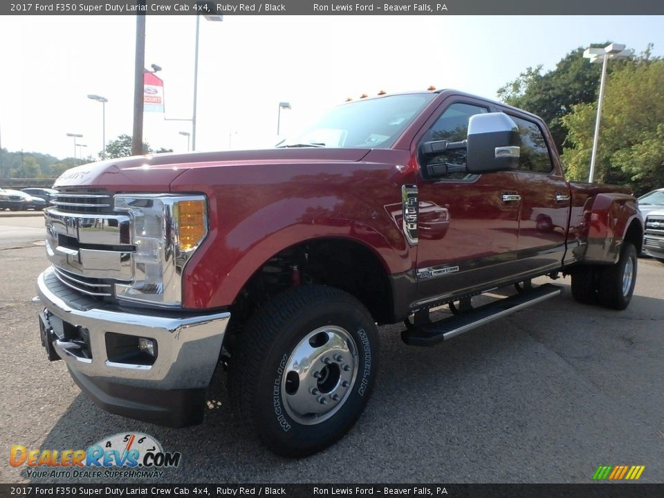 2017 Ford F350 Super Duty Lariat Crew Cab 4x4 Ruby Red / Black Photo #6