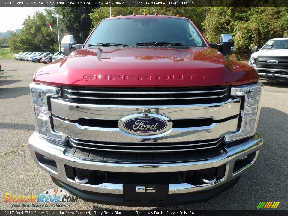 2017 Ford F350 Super Duty Lariat Crew Cab 4x4 Ruby Red / Black Photo #7