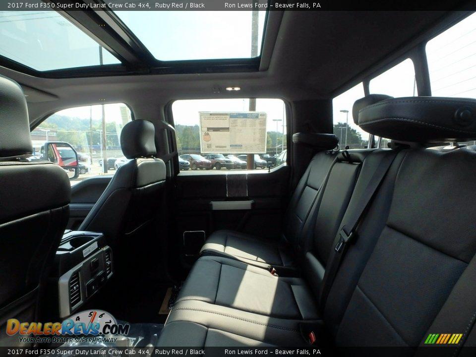 2017 Ford F350 Super Duty Lariat Crew Cab 4x4 Ruby Red / Black Photo #11