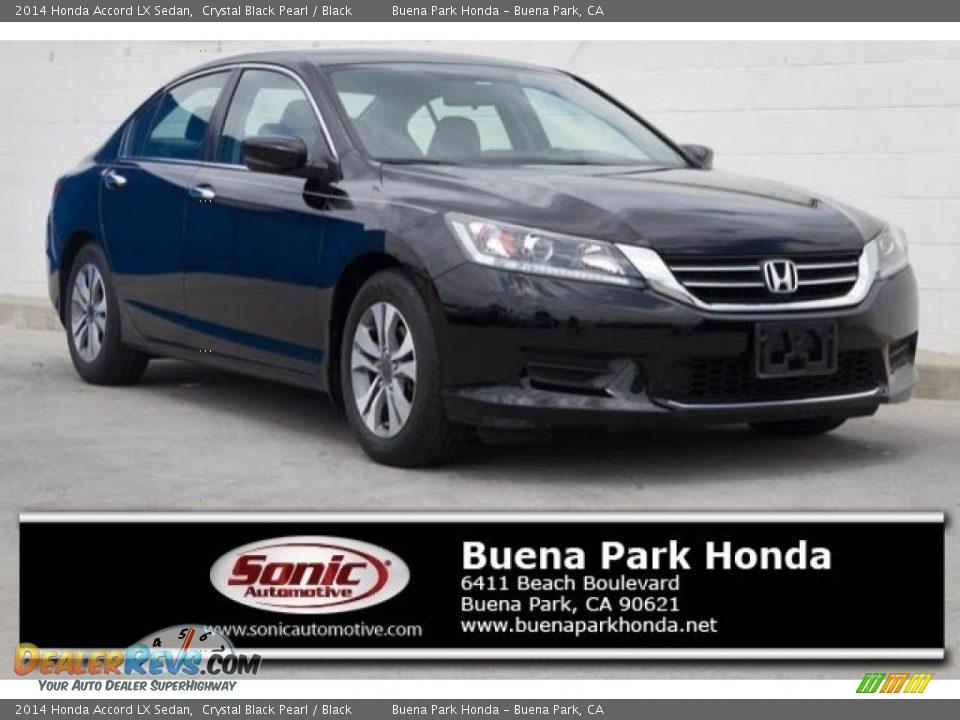 2014 Honda Accord LX Sedan Crystal Black Pearl / Black Photo #1
