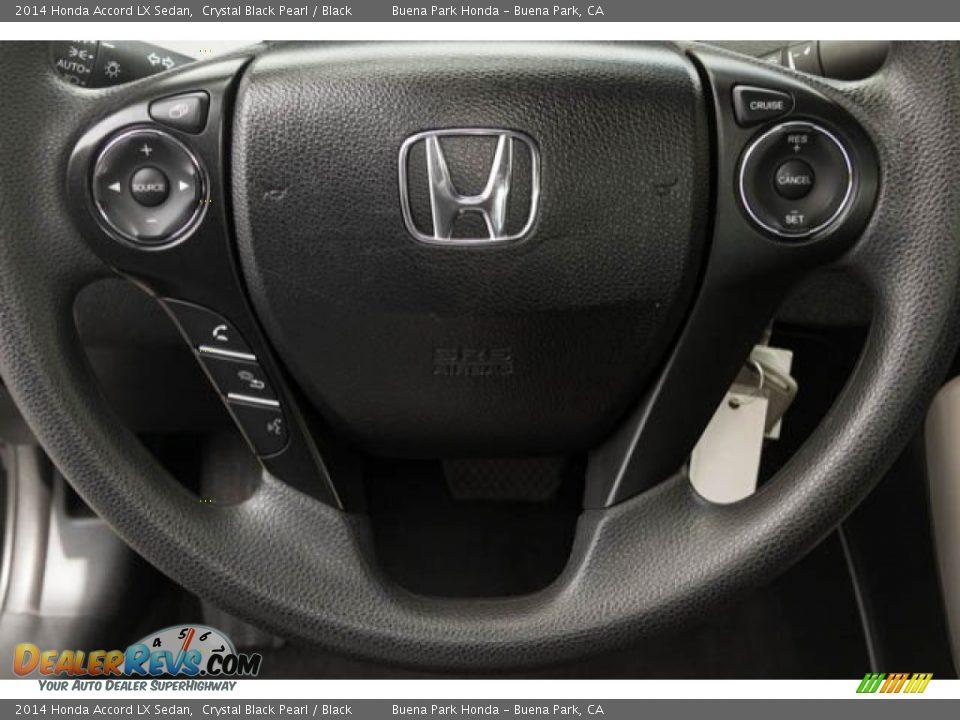 2014 Honda Accord LX Sedan Crystal Black Pearl / Black Photo #11