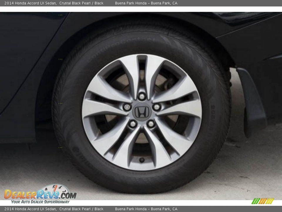 2014 Honda Accord LX Sedan Crystal Black Pearl / Black Photo #28